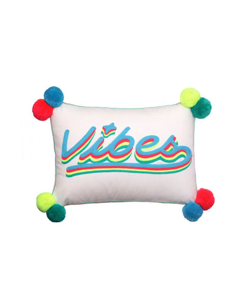 'Vibes' Embroidered Cushion