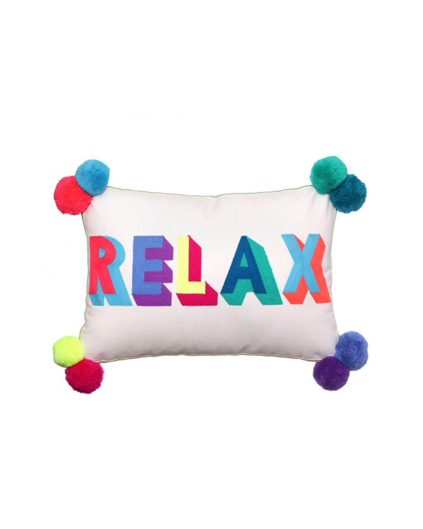 Relax Embroidered Cushion