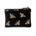 Jane Coin Purse - Classic Bees on Black Velvet