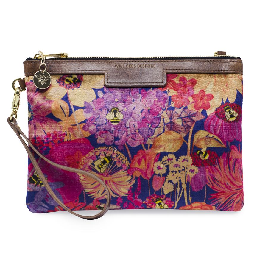 Premium Diana Clutch - Bumblebee Paradise in Pink sunset