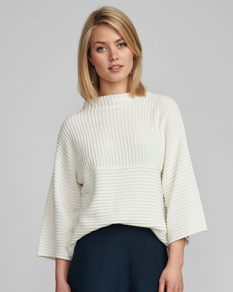 Numph Nuirmelin Ribbed knit - White Cloud