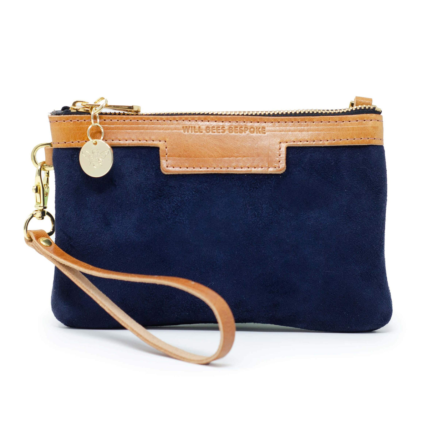 Premium Diana Mini Clutch - Navy Suede