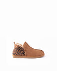 Leopard and Chestnut Sheepskin Slippers - Annie