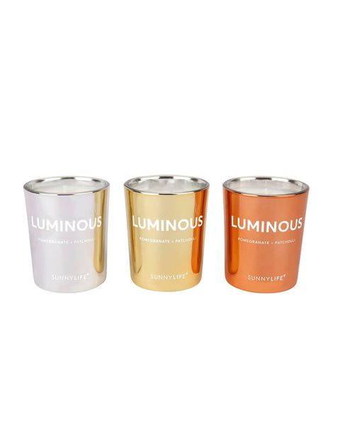 Sunnylife set of 3 Luminous Candles