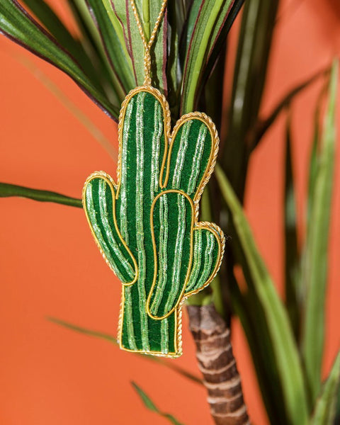 Embroidered Cactus Hanging Decoration