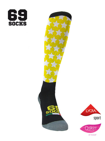 #69socks Q-skin Long Stars in The Road Yellow