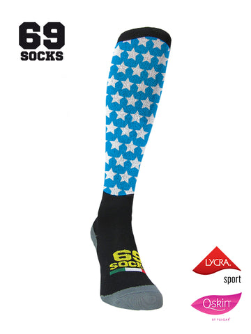 #69socks Q-skin Long Stars in The Road Azul