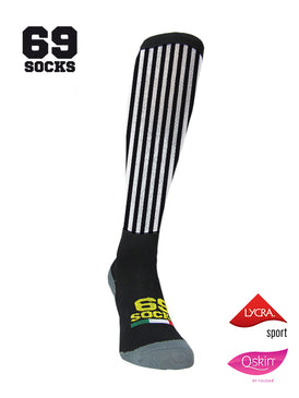 #69socks Q-skin Long BlackWhite vertical