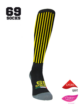 #69socks Q-skin Long YellowBlack vertical