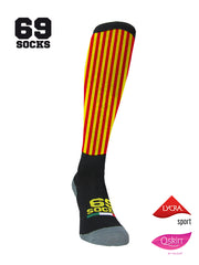 #69socks Q-skin Long YellowRed vertical