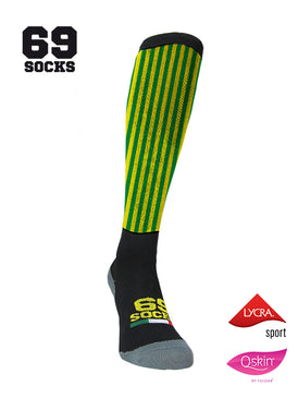#69socks Q-skin Long YellowGreen vertical