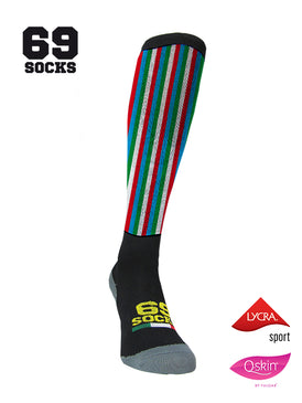#69socks Q-skin Long Tricolore vertical