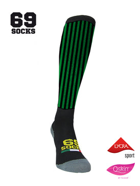 #69socks Q-skin Long BlackGreen vertical