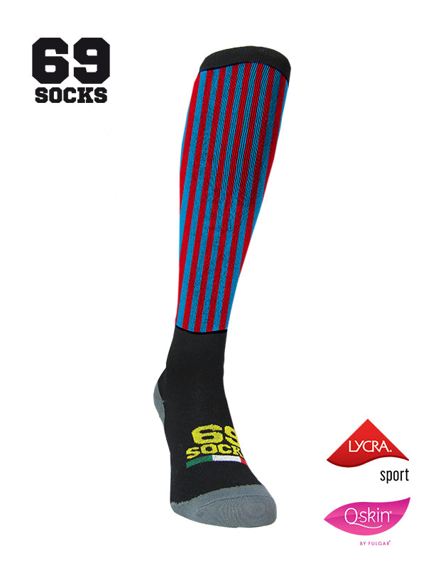 #69socks Q-skin Long RedBlu vertical