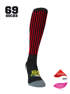 #69socks Q-skin Long RedBlack vertical