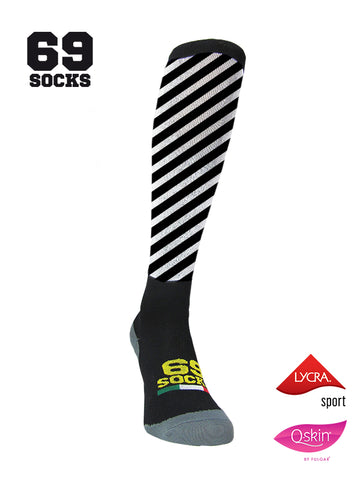 #69socks Q-skin Long Stripe in The Road Black
