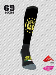 #69socks Q-skin Long Super Dad 2018