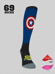 #69socks Q-skin Long Capitan Runner Blu