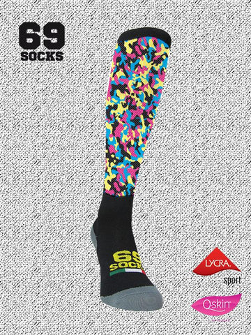 #69socks Q-skin Long #04Military Multicamo