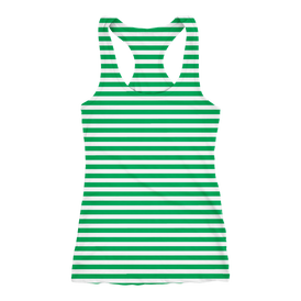 Tank Race Running   Stripe Green 2019