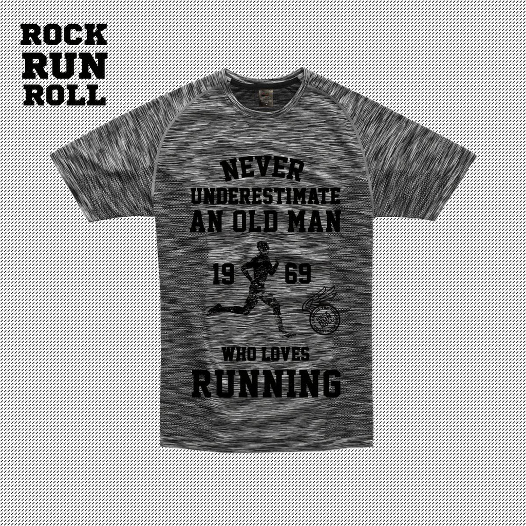 RRR T-Shirt Man Active Dry Never Underestimate a Old Man - Uomo