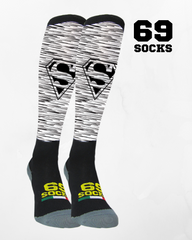#69socks Q-skin Super Runner Grey