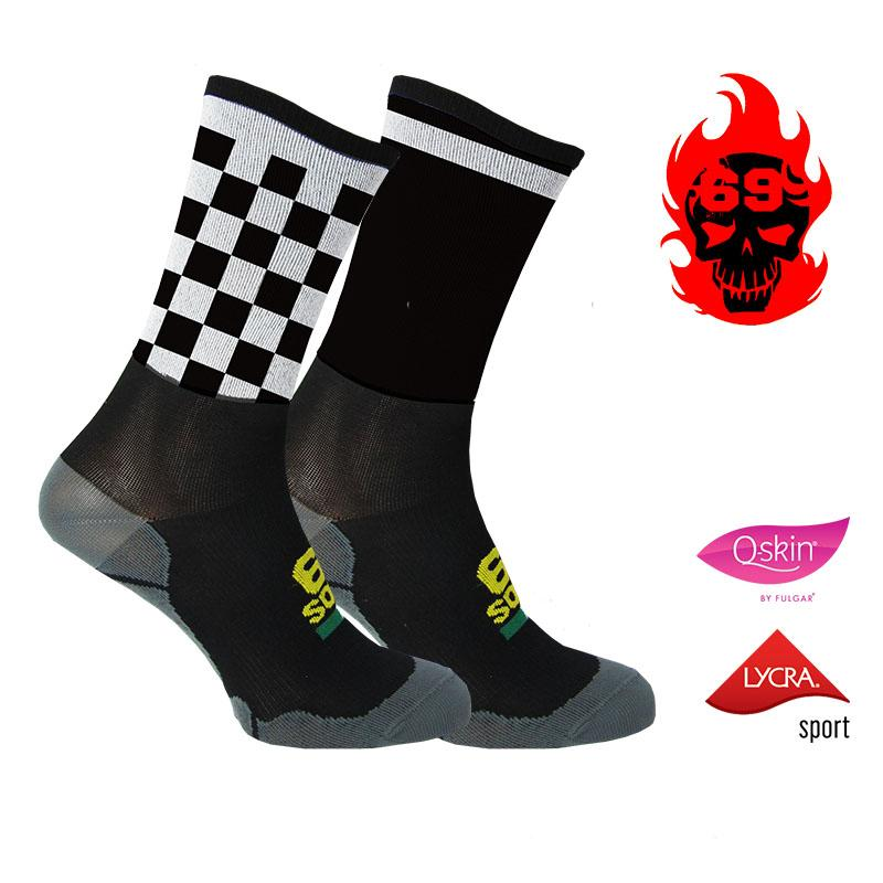 #69socks Q-skin Short  Bi Color BW