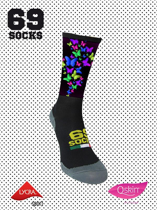 #69socks Q-skin Short Mariposas