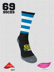 #69socks Q-skin Short White Azul