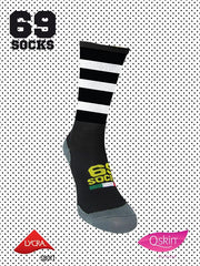 #69socks Q-skin Short White Black