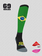 #69socks Q-skin Long #46BrazilianRunner