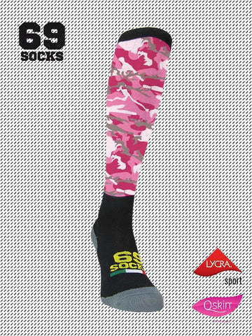 #69socks Q-skin Long Camo Pinker