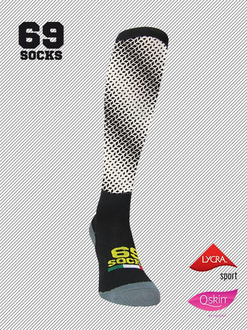 #69socks Q-skin Long #38Black Scoured