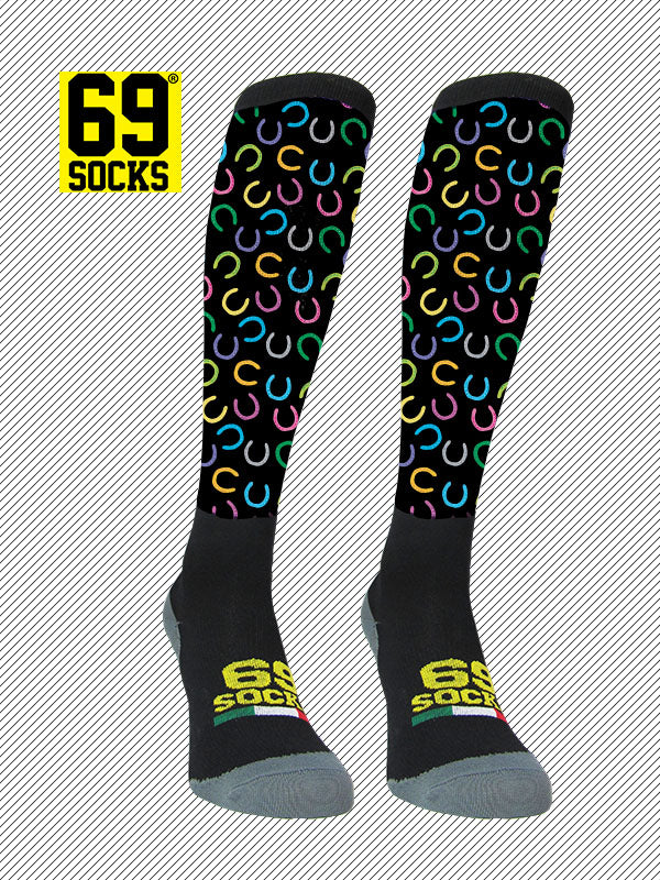 Riding  #69socks Q-skin Long Ferro Black