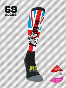 #69socks Q-skin Long God Save The Runners