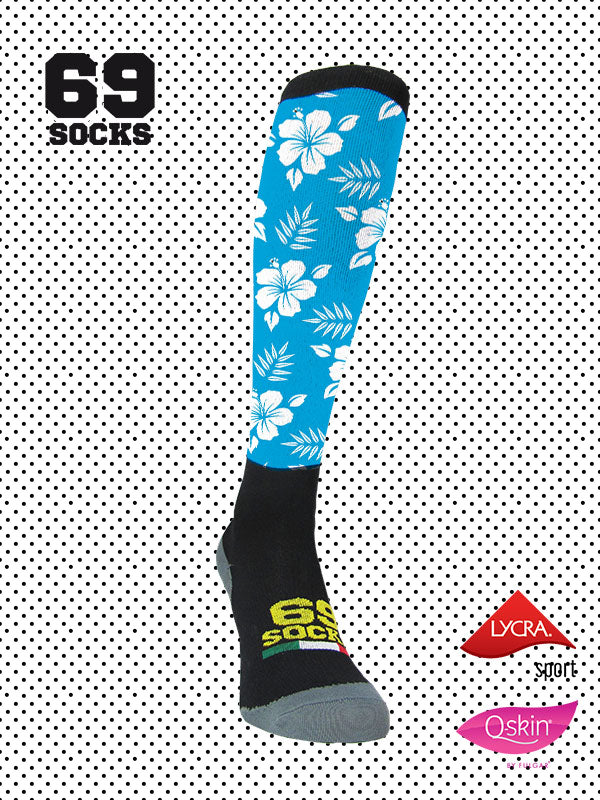 #69socks Q-skin Long Hawaii Azul