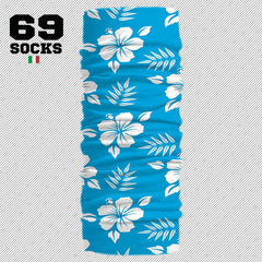 69 BANDANA MULTI USO Hawaii Azul