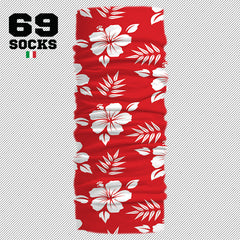 69 BANDANA MULTI USO Hawaii Red