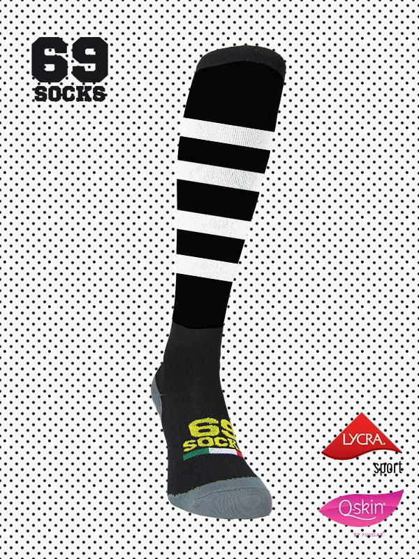 #69socks Q-skin Long BlackWhite Vintage