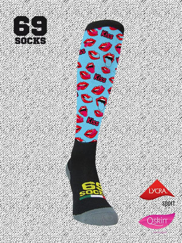 #69socks Q-skin Long Kiss Lips