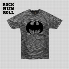 RRR T-Shirt Man Active Dry Bat Run  Black - Uomo