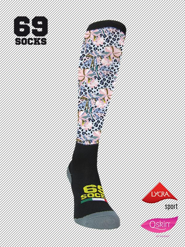 #69socks Q-skin Long #55Orchidea Selvaggia
