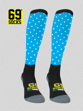 Riding  #69socks Q-skin Long Pallino Azul