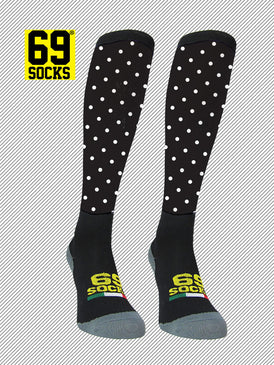Riding  #69socks Q-skin Long Pallino Black