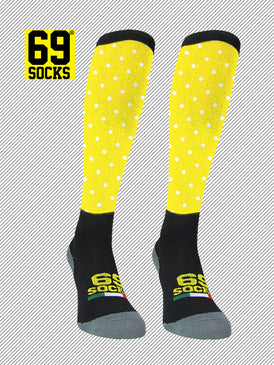 Riding  #69socks Q-skin Long Pallino Yellow