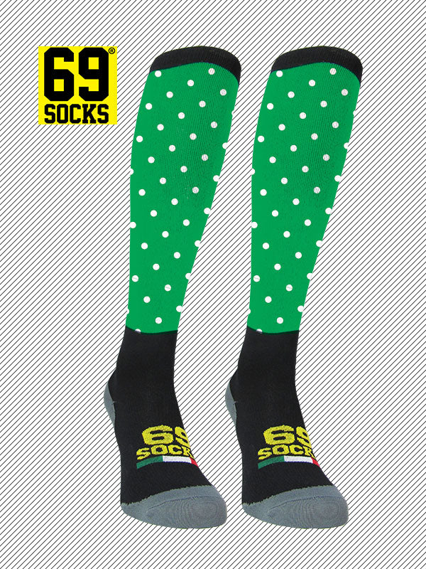 Riding  #69socks Q-skin Long Pallino Green