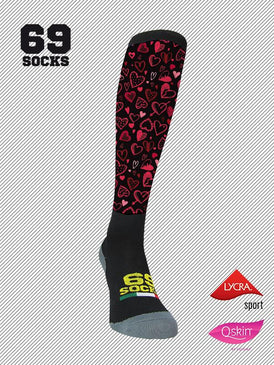 #69socks Q-skin Long #40Black Lovers
