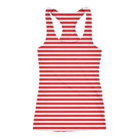 Tank Race Running   Stripe Red 2019