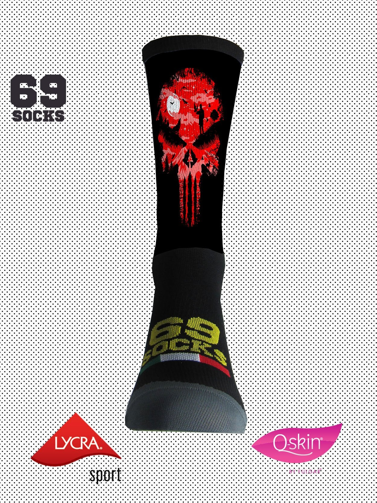 #69socks Q-skin Short Redpunish
