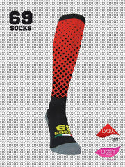 #69socks Q-skin Long RedBlack Square